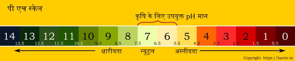 pH स्केल का उपयोग pH नापने (0-14) के लिए किया जाता है.
